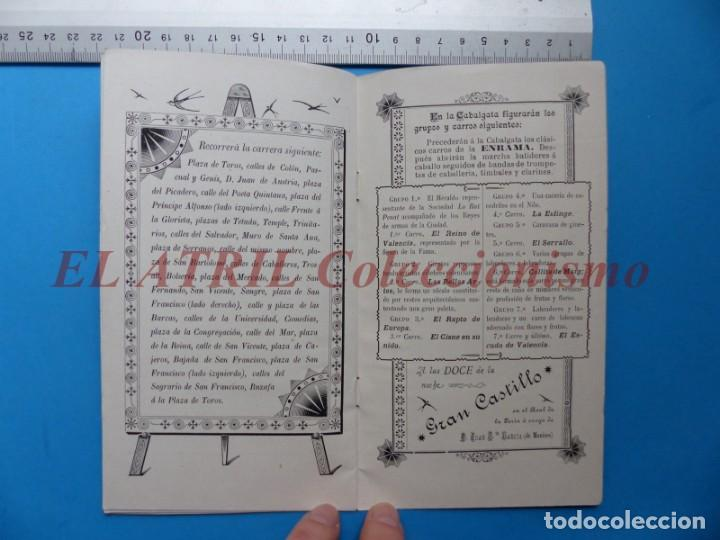 Folletos de turismo: PROGRAMA OFICIAL - VALENCIA - GRAN FERIA DE JULIO - AÑO 1899 - Foto 10 - 148287502