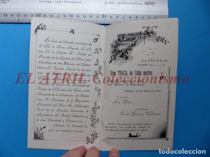 Folletos de turismo: PROGRAMA OFICIAL - VALENCIA - GRAN FERIA DE JULIO - AÑO 1899 - Foto 12 - 148287502