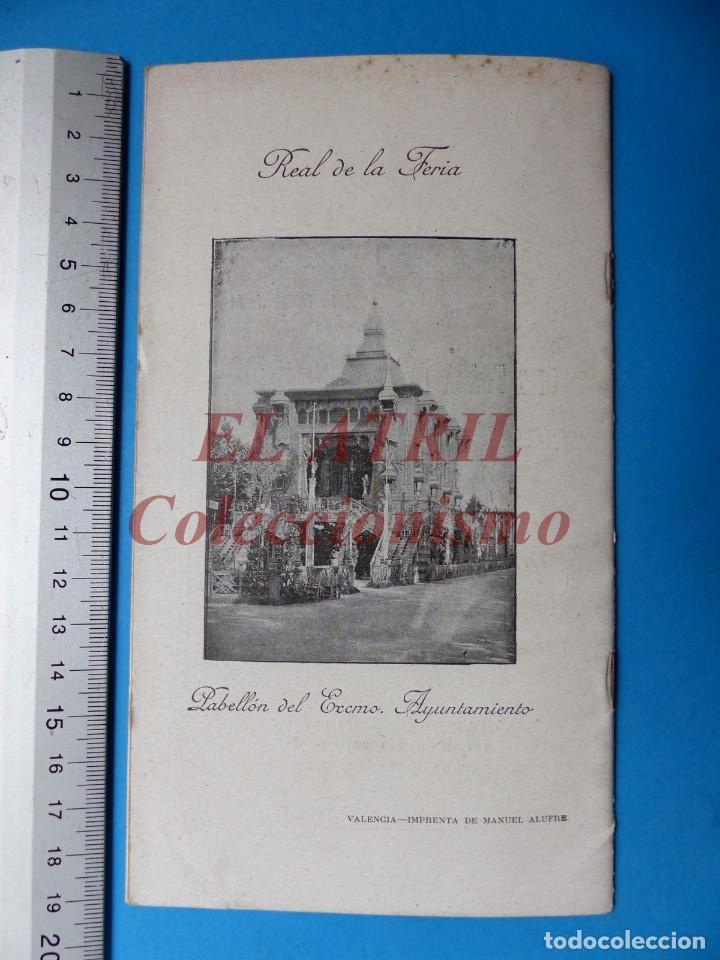 Folletos de turismo: PROGRAMA OFICIAL - VALENCIA - GRAN FERIA DE JULIO - AÑO 1899 - Foto 13 - 148287502