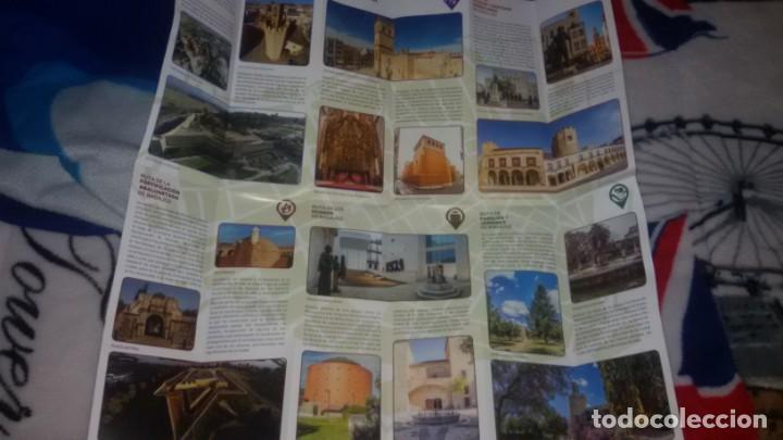 Folletos de turismo: PLANO DE RUTAS TURÍSTICAS POR LA CIUDAD DE BADAJOZ - AYUNTAMIENTO DE BADAJOZ CONCEJALÍA DE TURISMO - Foto 2 - 148468582