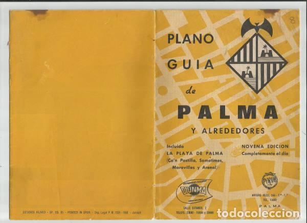 DOCUMENTO PLANO GUIA PALMA MALLORCA 1965 (Coleccionismo - Folletos de Turismo)