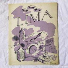 Folletos de turismo: LIBRITO TURÍSTICO DE LIMA PERÚ, 1946. Lote 149521594