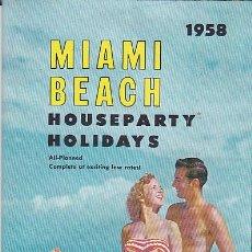 Folletos de turismo: FOLLETO TURISMO EDITADO POR PAN AMERICAN MIAMI BEACH. Lote 149853642