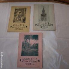 Folletos de turismo: 3 REVISTAS TURISMO SEVILLA - 1913. Lote 150670926