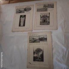 Folletos de turismo: 3 REVISTAS MENSUALES TURISMO . CADIZ 1916. Lote 150672094