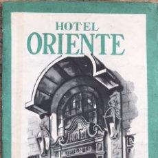 Folletos de turismo: FOLLETO DESPLEGABLE CON PLANO HOTEL ORIENTE. BARCELONA. Lote 151841594