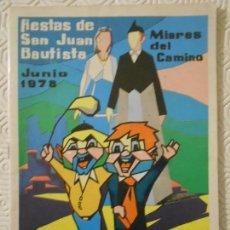 Folletos de turismo: FIESTAS DE SAN JUAN BAUTISTA. MIERES DEL CAMINO. JUNIO 1978. PROGRAMA DE LAS FIESTAS. ANUNCIOS, FOTO. Lote 151867458