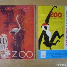 Folletos de turismo: GUÍA DEL ZOO BARCELONA + GUIA ITINERARIOS - 1962 . Lote 151887714