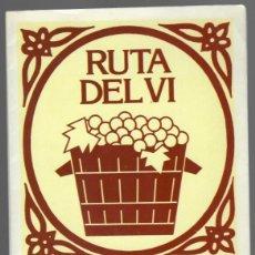 Folletos de turismo: RUTA DEL VI D.O. PRIORAT - GENERALITAT DE CATALUNYA PROMOCIÓ DE RUTES TURÍSTIQUES. Lote 151914066
