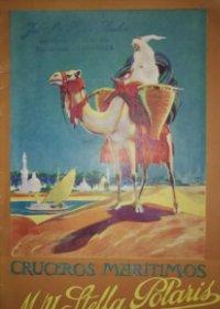 1928 Cruceros marítimos M/Y Stella Polaris. folleto turismo.