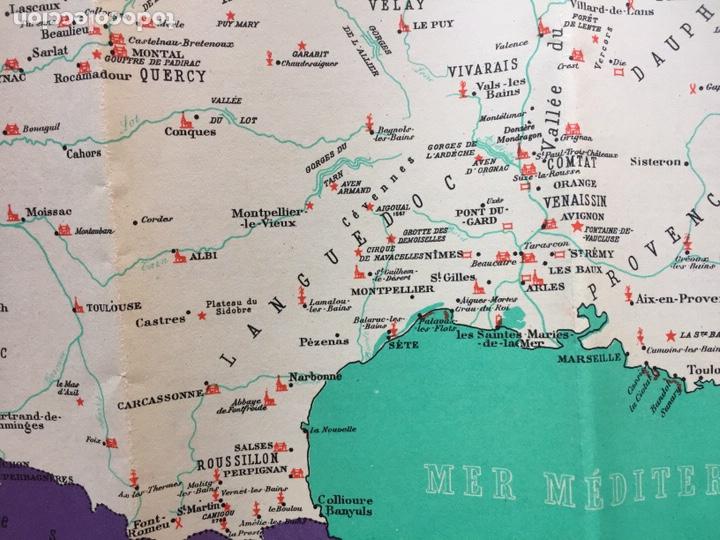 Mapa Turistico Anos 1950 Carreteras De Franci Buy Old Travel