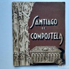 Folletos de turismo: SANTIAGO DE COMPOSTELA, GUIA ARTISTICA DE LA CUIDAD, AÑO SANTO 1948. Lote 153045102