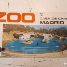 Folletos de turismo: PLANO ZOO MADRID, 1972. Lote 176838118