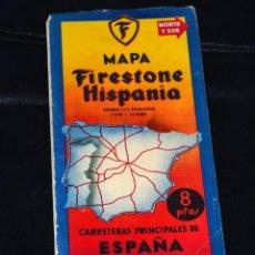 Folletos de turismo: MAPA DE ESPAÑA FIRESTONE HISPANIA SUPERVINTAGE. Lote 153425654