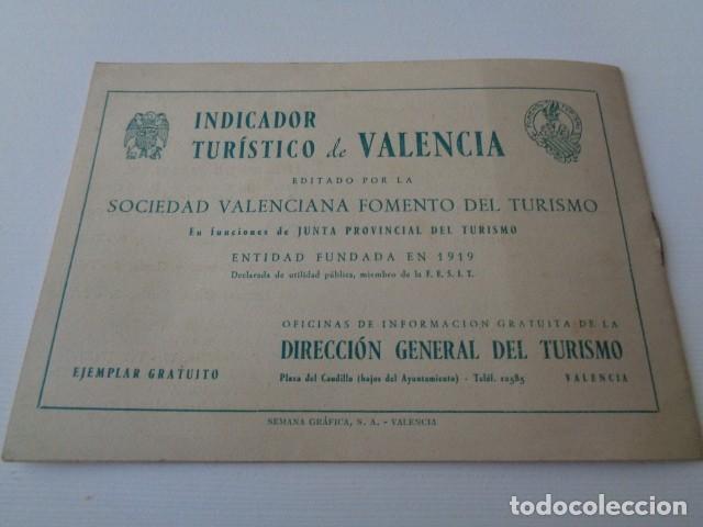Folletos de turismo: VALENCIA. INDICADOR TURÍSTICO. AÑOS 50. CUADERNILLO - Foto 3 - 153609174