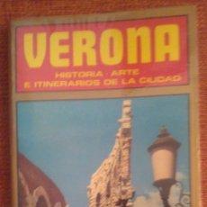 Folletos de turismo: VERONA Y PADUA. 2 GUÍAS, CON MAPA DE LA CIUDAD.. Lote 154478446