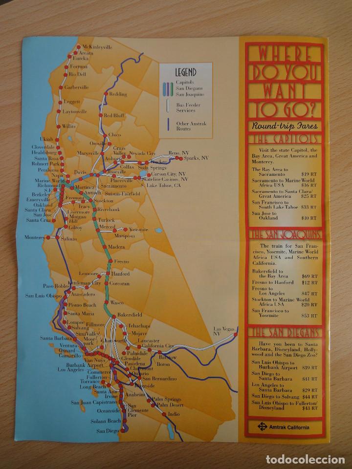 Folletos de turismo: Folleto Amtrak. Aventura California. 1996 - Foto 2 - 154532194
