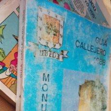 Folletos de turismo: GUIA CALLEJERO UBEDA 1988. Lote 154772750