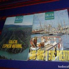Folletos de turismo: GALICIA PÓRTICO DE LA GLORIA: GALICIA, ESPACIO NATURAL Y LAS RÍAS Y SUS PUERTOS. TURGALICIA 1996. BE. Lote 155246894