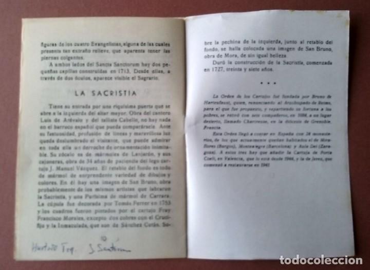 Folletos de turismo: GUÍA MONASTERIO DE LA CARTUJA. GRANADA. 1964. IMP. EL SAGRADO CORAZÓN. 12 PÁGINAS. - Foto 4 - 155296502