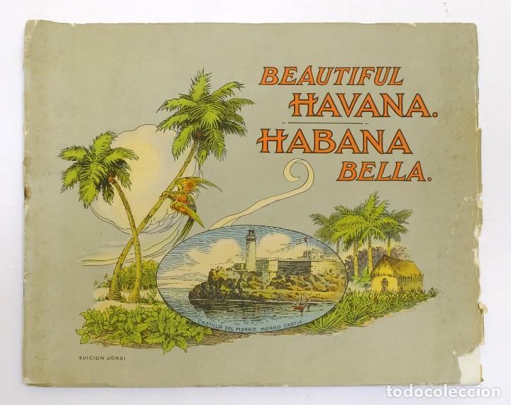 ANTIGUO FOLLETO PUBLICITARIO DE TURISMO DE LA HABANA CUBA (Coleccionismo - Folletos de Turismo)
