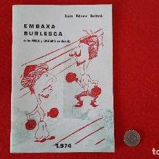 Folletos de turismo: PROGRAMA DE FIESTAS DE MOROS Y CRISTIANOS 1974 - NOVELDA. Lote 156898902
