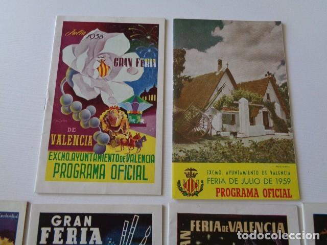 Folletos de turismo: VALENCIA. GRAN FERIA DE JULIO. LOTE DE 10 PROGRAMAS OFICIALES DISTINTOS. AÑOS 1950 - 1959 - Foto 2 - 157243530