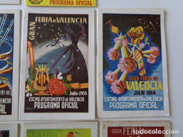 Folletos de turismo: VALENCIA. GRAN FERIA DE JULIO. LOTE DE 10 PROGRAMAS OFICIALES DISTINTOS. AÑOS 1950 - 1959 - Foto 4 - 157243530