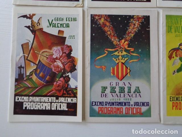Folletos de turismo: VALENCIA. GRAN FERIA DE JULIO. LOTE DE 10 PROGRAMAS OFICIALES DISTINTOS. AÑOS 1950 - 1959 - Foto 5 - 157243530