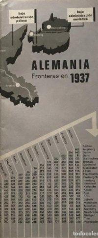 Fronteras en 1937. Alemania