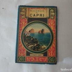 Folletos de turismo: RICORDO DI CAPRI. Lote 159204270