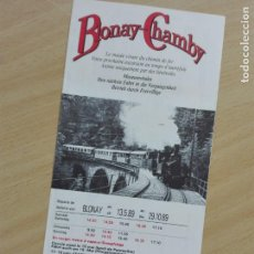 Folletos de turismo: FOLLETO 1989 (UNA HOJA) - FERROCARRIL BLONAY-CHAMBY SUIZA - TREN. Lote 159278250
