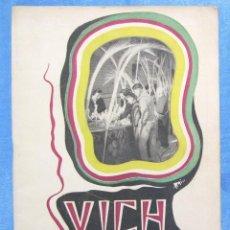 Folletos de turismo: VICH. MERCAT DEL RAM, 1957.. Lote 159490414
