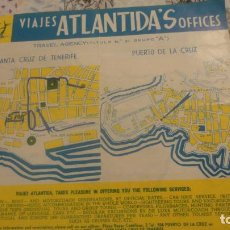 Folletos de turismo: ANTIGUO FOLLETO TURISMO.VIAJES ATLANTIDA'S OFFICES.SANTA CRUZ TENERIFE.1962. Lote 160417958