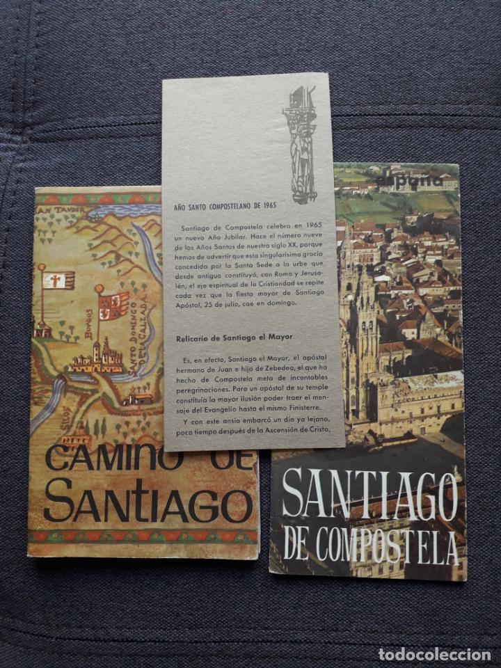 LOTE DE 3 FOLLETOS DE TURISMO DE SANTIAGO DE COMPOSTELA. AÑOS 60 (Coleccionismo - Folletos de Turismo)