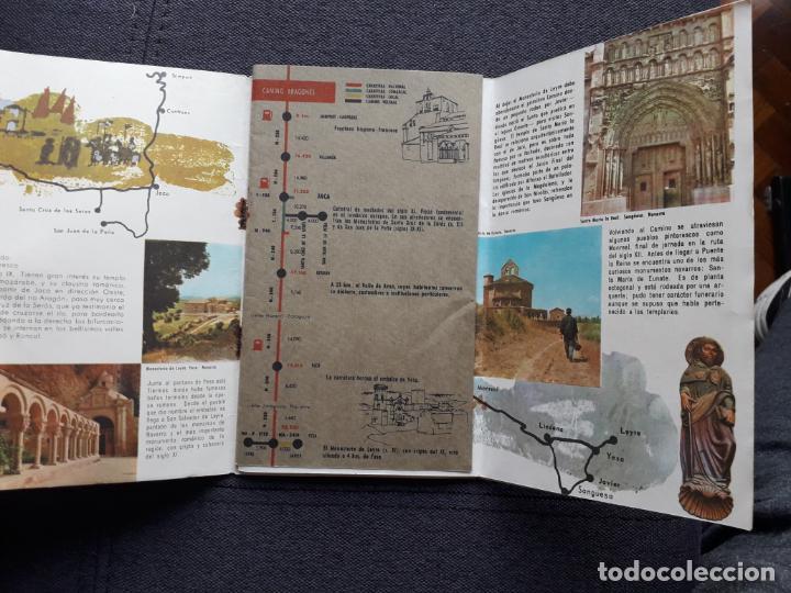 Folletos de turismo: Lote de 3 Folletos de Turismo de Santiago de Compostela. Años 60 - Foto 7 - 160841618