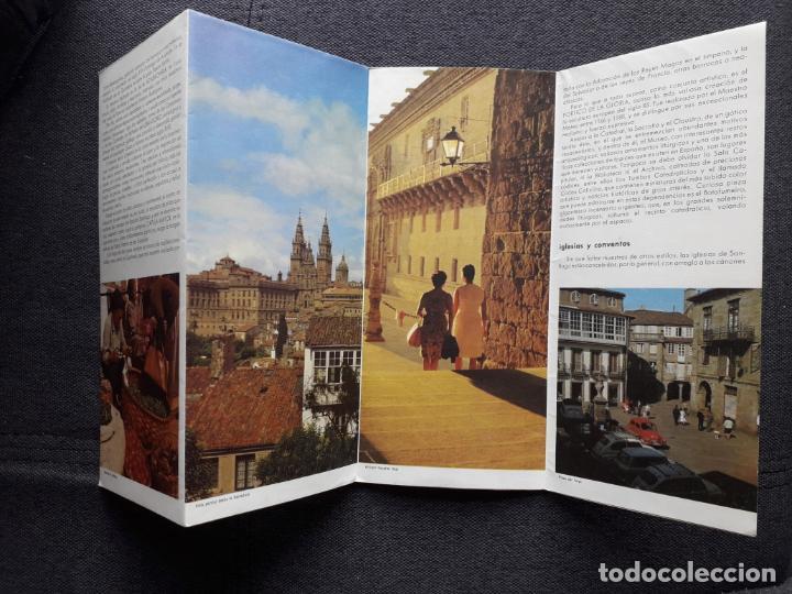 Folletos de turismo: Lote de 3 Folletos de Turismo de Santiago de Compostela. Años 60 - Foto 12 - 160841618