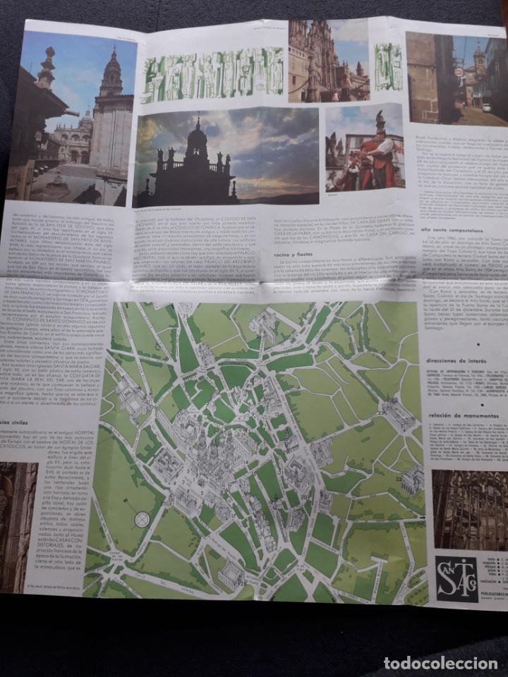 Folletos de turismo: Lote de 3 Folletos de Turismo de Santiago de Compostela. Años 60 - Foto 13 - 160841618