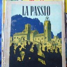 Folletos de turismo: LA PASSIO OLESA DE MONTSERRAT AÑO MCMXLIV. Lote 161437350