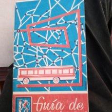 Folletos de turismo: GUIA AUTOBUSES PROVINCIA DE BADAJOZ 1968 69. Lote 162475782