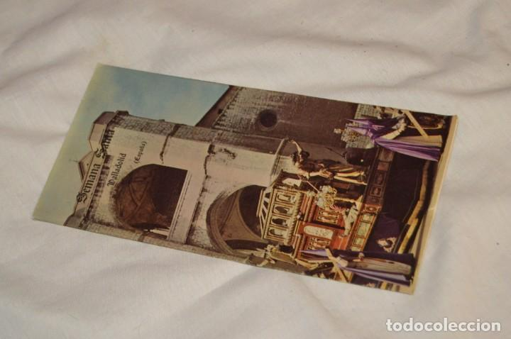 ANTIGUO FOLLETO DESPLEGABLE EN 12 PARTES - FOURNIER 1962 - SEMANA SANTA DE VALLADOLID - VINTAGE (Coleccionismo - Folletos de Turismo)