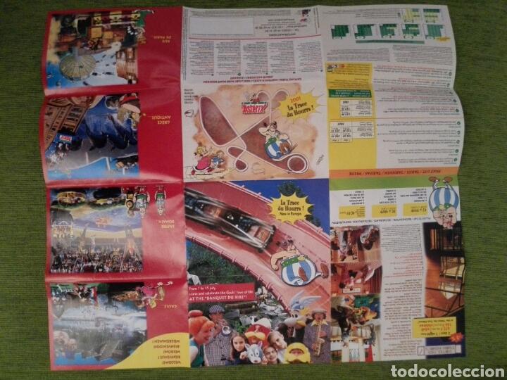 Folletos de turismo: PLANO GUIA DEL PARQUE DE ATRACCIONES DE ASTÉRIX EN FRANCIA DEL AÑO 2001. VARIOS IDIOMAS - Foto 4 - 162989804