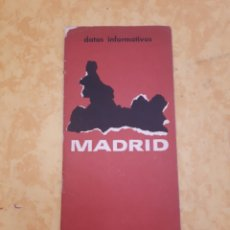 Folletos de turismo: FOLLETO TURISMO MADRID SUBSECRETARÍA TURISMO 1966, 9 PP.. Lote 163033257