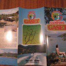 Folletos de turismo: CÀMPING GASET. TREMP. LLEIDA. 1993. Lote 163487168