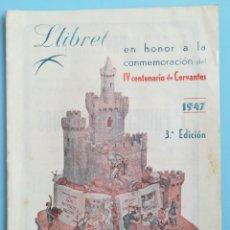 Folletos de turismo: FALLAS VALENCIA LLIBRET DE LA FALLA PLAZA DEL COLLADO 1947. Lote 163505194