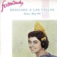 Folletos de turismo: FESTIVIDADES REVISTA FALLERA 1959. Lote 164524502