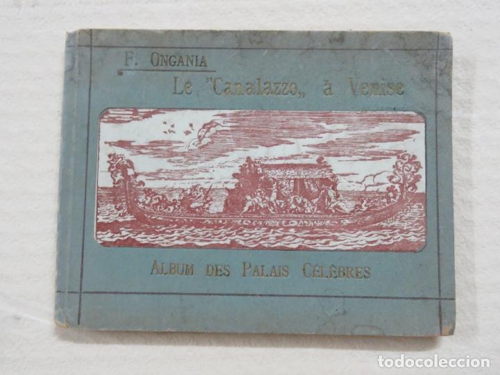 ALBUM CON MAS DE 50 GRABADOS DE FERDINANDO ONGANIA (1842-1911) - PALACIOS CELEBRES DE VENECIA- 1880 (Coleccionismo - Folletos de Turismo)