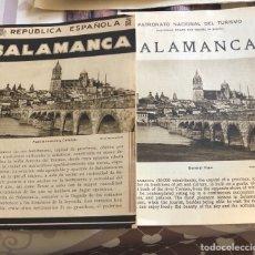 Folletos de turismo: LOTE DE 2 FOLLETOS TURÍSTICOS CON EL PLANO DE SALAMANCA, ÉPOCA REPUBLICANA. Lote 164912832
