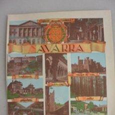 Folletos de turismo: LAMINA PLANO NAVARRA AÑOS 50. PLANO AL DORSO. Lote 165843814