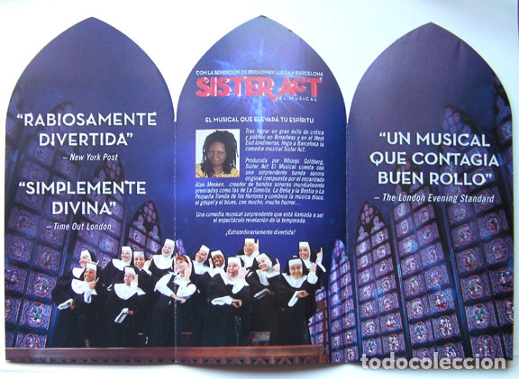 Folletos de turismo: Sister act el musical folleto triptico teatro Tivoli Barcelona 2014 - Foto 2 - 165846394